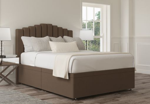 Quinn Ottoman Gatsby Taupe Headboard and Base Only