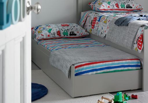 Liv & Lou Grey Compact Single Guest Sleepover UnderBed