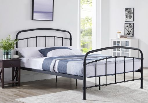 Halston Black Double Bed Frame