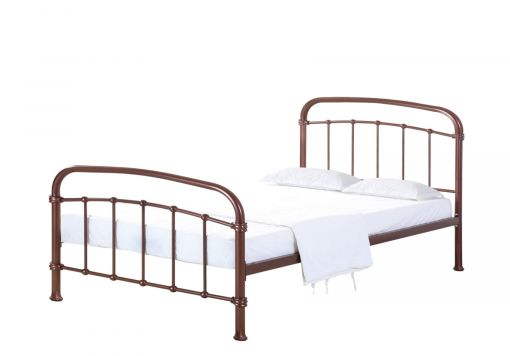 Halston Copper King Size Bed Frame