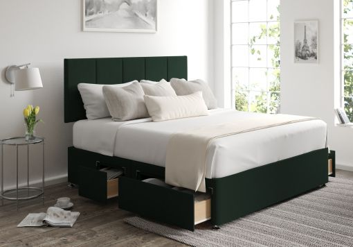 Hannah Classic 4 Drw Continental Gatsby Forest Headboard and Base Only