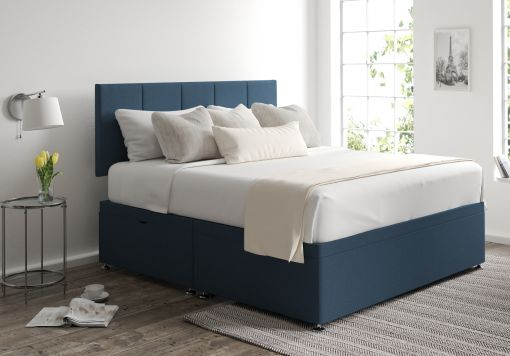Hannah Ottoman Arran Cyan Headboard and Base Only