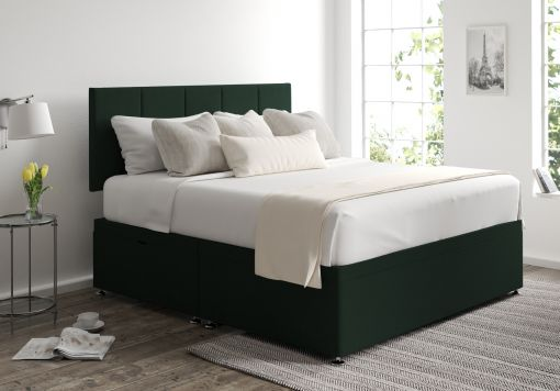 Hannah Ottoman Gatsby Forest Headboard and Base Only