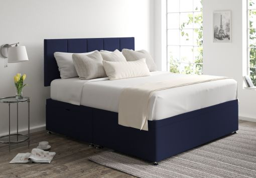 Hannah Ottoman Gatsby Indigo Headboard and Base Only