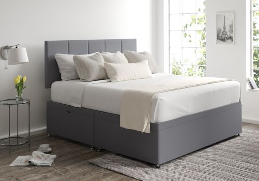 Hannah Ottoman Gatsby Platinum Headboard and Base Only
