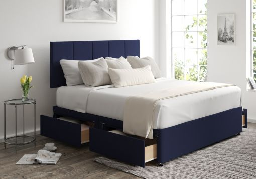 Hannah Classic 4 Drw Gatsby Indigo Headboard and Base Only