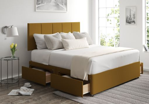 Hannah Classic 4 Drw Gatsby Ochre Headboard and Base Only