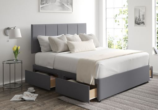 Hannah Classic 4 Drw Gatsby Platinum Headboard and Base Only