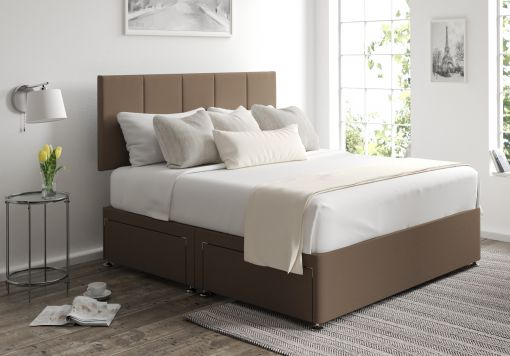 Hannah Classic 4 Drw Gatsby Taupe Headboard and Base Only