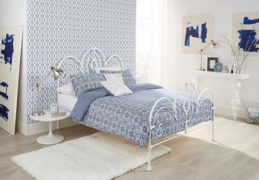 Harrington White Gloss Bed Frame