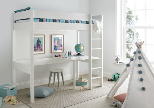 Modena High Sleeper Bed Frame with Desk