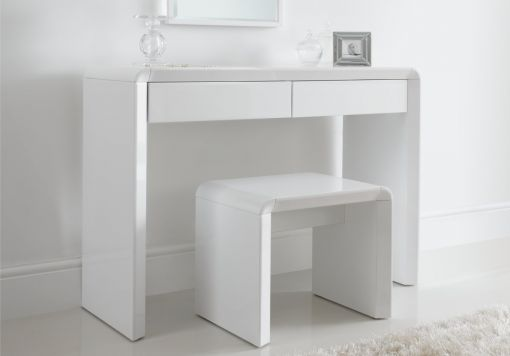 Ice High Gloss Stool - White