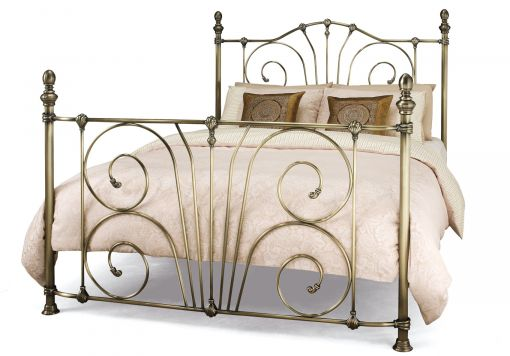 Lillie Antique Brass Bed Frame