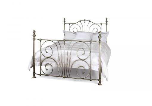 Lillie Antique Nickel Bed Frame
