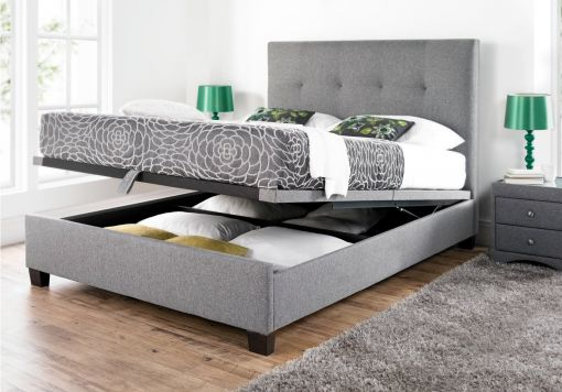 Kaydian Walkworth Ottoman Storage Bed - Smoke Fabric