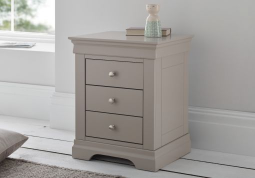 Louie 3 Drawer Pebble Bedside