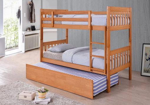 Harmony Lydia Pine Wooden Bunk Bed Including Underbed
