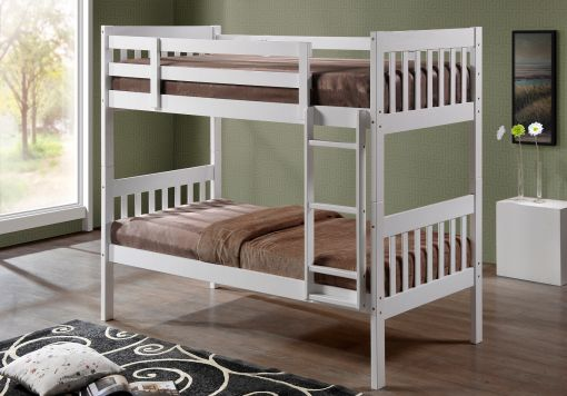 Harmony Lydia White Wooden Bunk Bed