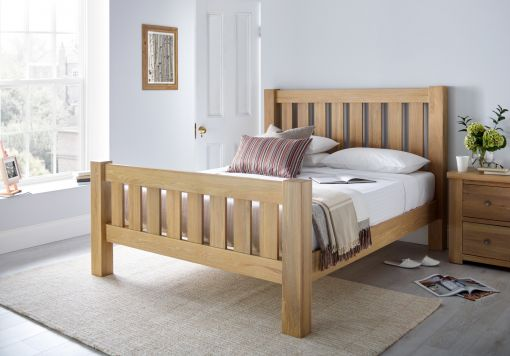 Maine Oak Wooden Bed Frame