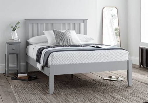 Malmo Grey Wooden Bed Frame Only
