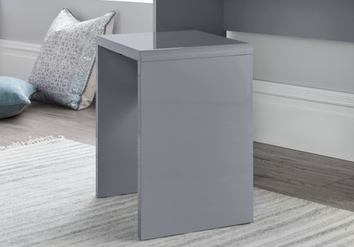 Manilla Grey 2 Drawer Bedside Table