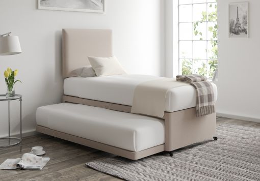 Cheltenham Marinello Wheat Upholstered Guest Bed With Mattresses