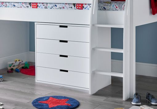 Montana Mid Sleeper With 4 Drawer Chest