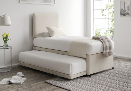 Cheltenham Naples Cream Upholstered Guest Bed With Mattresses