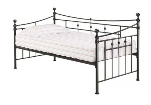 Olivia Black Day Bed With Trundle