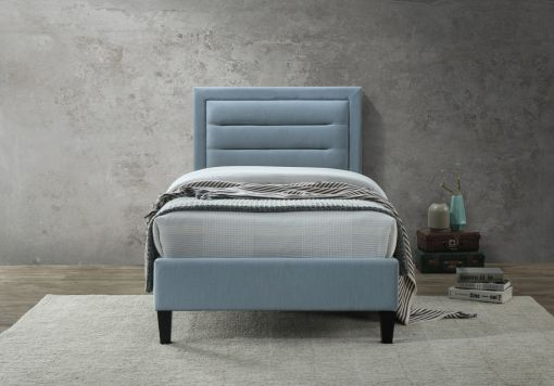 Oslo 2 Upholstered Bed - Blue