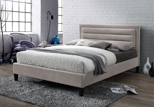 Oslo 2 Upholstered Bed - Mink