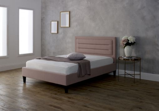 Oslo 2 Upholstered Bed - Pink