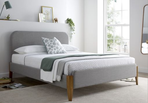 Poppy Mid Grey Upholstered Bed Frame