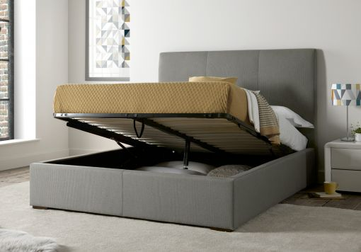 Portofino Upholstered Ottoman Storage Bed - Cloud Grey