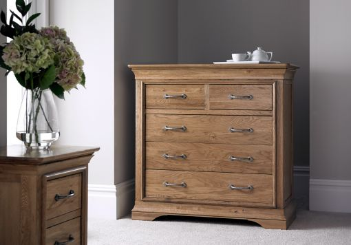 French Style Versaille Rustic Oak 3 + 2 Chest