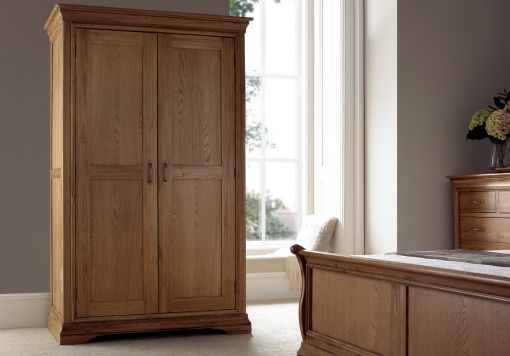 French Style Versaille Rustic Oak Full Length Wardrobe