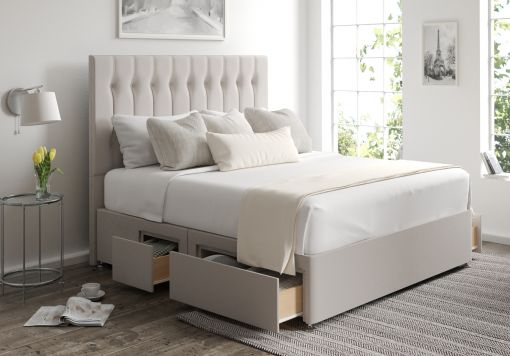 Rylee Classic 4 Drw Continental Arran Natural Headboard and Base Only