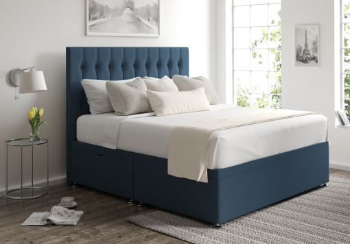 Rylee Ottoman Arran Cyan Headboard and Base Only
