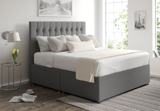 Rylee Ottoman Chamonix Silver Headboard and Base Only