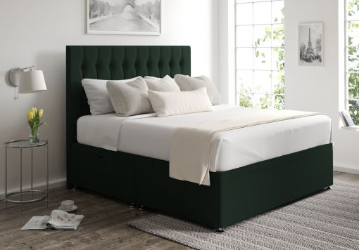 Rylee Ottoman Gatsby Forest Headboard and Base Only