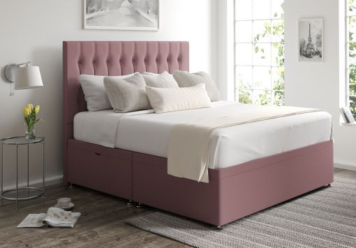 Rylee Ottoman Gatsby Rose Headboard and Base Only