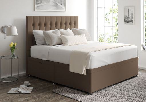 Rylee Ottoman Gatsby Taupe Headboard and Base Only