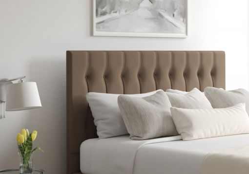 Rylee Gatsby Taupe Upholstered Floor Standing Headboard