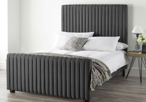 Catherine Lansfield Soho Charcoal Upholstered Bed Frame Only
