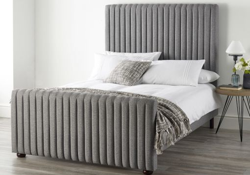 Catherine Lansfield Soho Grey Upholstered Bed Frame Only