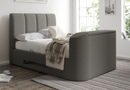 Copenhagen Upholstered Ottoman TV Bed Frame - Foley Grey