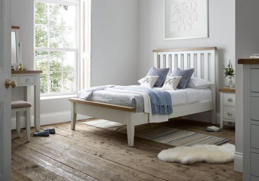 Tiverton White Wooden Bed Frame