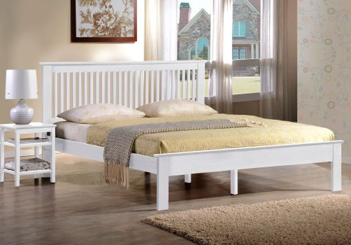 Harmony Windsor White Wooden Bed Frame