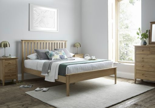 Newport Oak Wooden Bed Frame