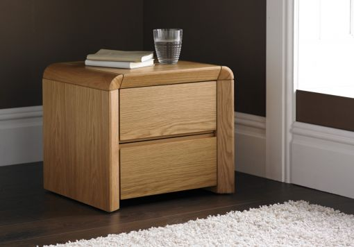 Arran Oak Finish 5 Drawer Tallboy